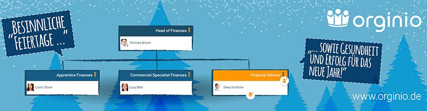 orginio wünscht frohe Weihnachten und viele smarte Organigramme