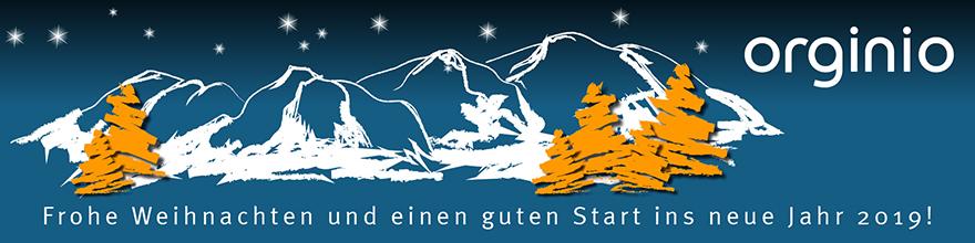 Frohe Weihnachten wünscht das orginio-Team!