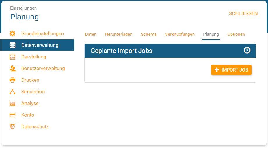 Einen Import Job erstellen